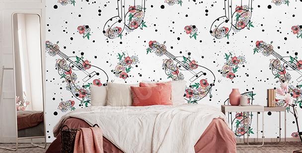 Floralna fototapeta do sypialni