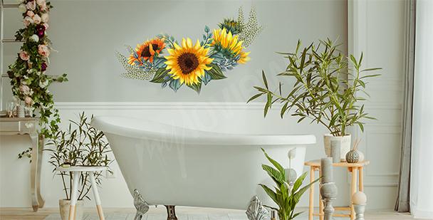 Floralna naklejka do łazienki