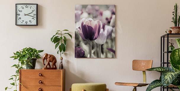Obraz z tulipanami do sypialni