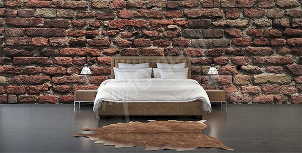 Fototapeta 3d cegła w sypialni