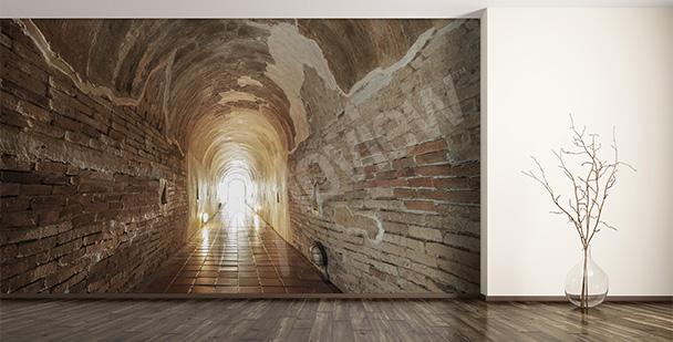 Fototapeta 3d tunel z cegieł