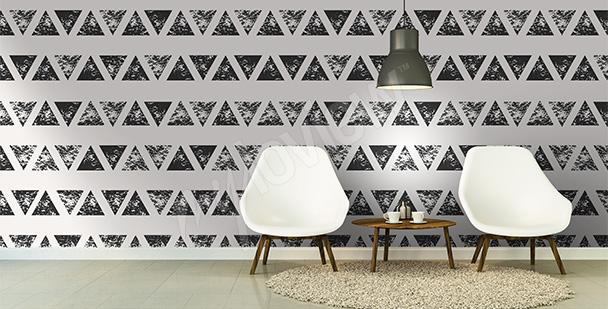 Fototapeta abstrakcyjna trójkąty