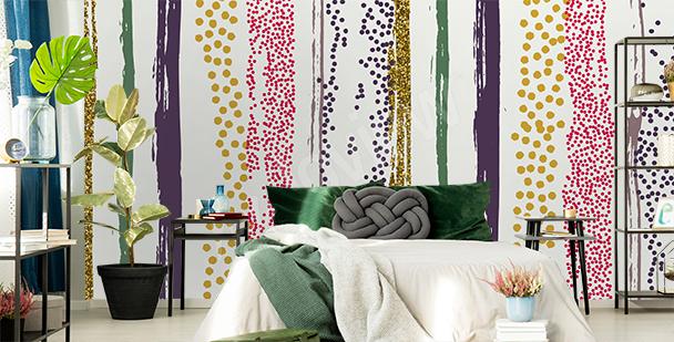 Fototapeta kolorowe pionowe pasy