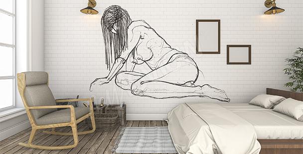 Fototapeta akt do sypialni