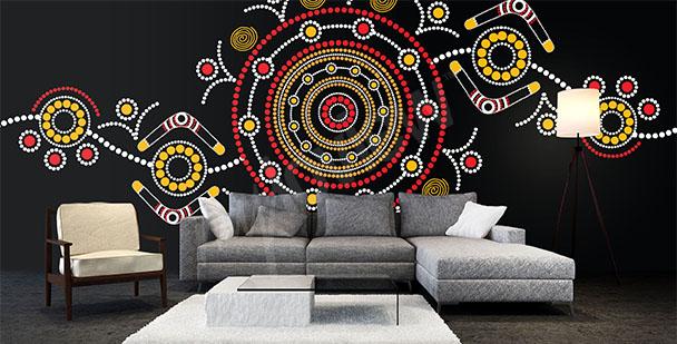 Fototapeta australijski wzór etno