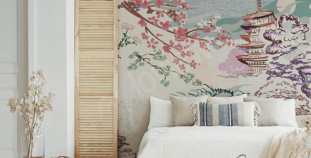 Fototapeta Azja i kwiaty wiśni