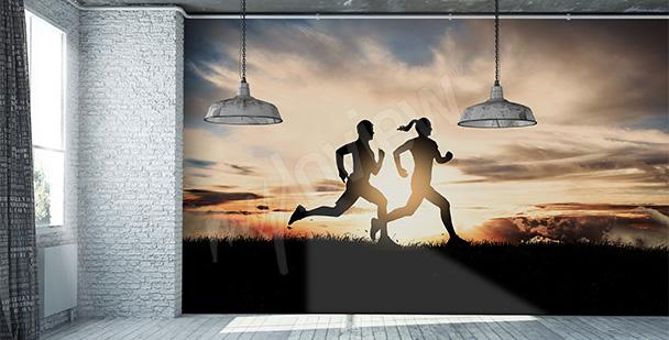 Fototapeta biegająca para