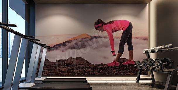 Fototapeta bieganie - do klubu fitness