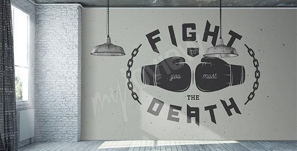Fototapeta bokserska z napisami