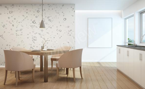 Fototapeta czarno-biała wzór do kuchni