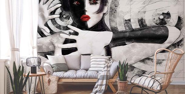 Fototapeta czarno-biały portret