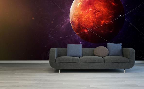Fototapeta czerwona planeta Mars