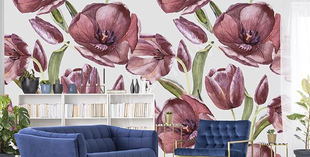 Fototapeta czerwone tulipany