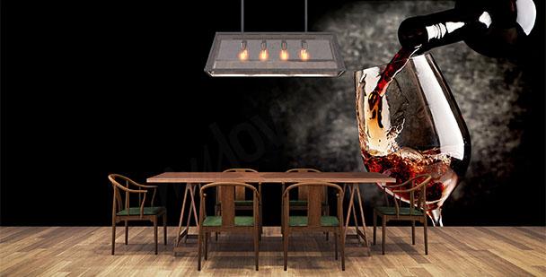 Fototapeta czerwone wino