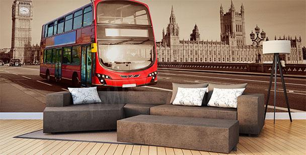 Fototapeta czerwony autobus