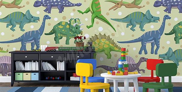 Fototapeta dinozaury do przedszkola