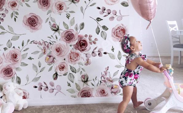 Fototapeta dla dziewczynki – róże