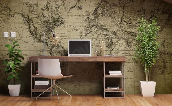 Fototapeta do biura mapa świata