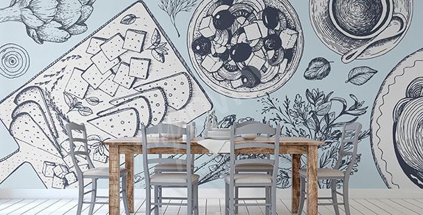 Fototapeta do greckiej restauracji