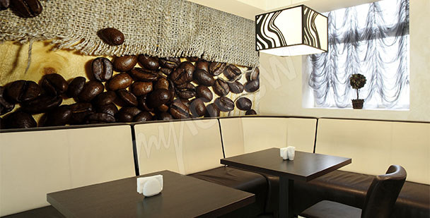 Fototapeta do kawiarni ziarna kawy
