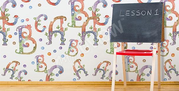Fototapeta do klasy językowej alfabet