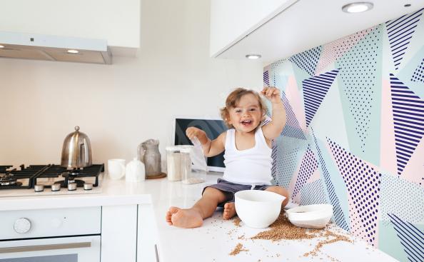 Fototapeta do kuchni geometryczna
