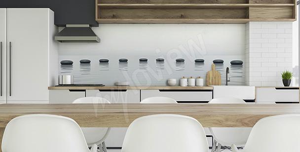 Fototapeta do kuchni z kamykami