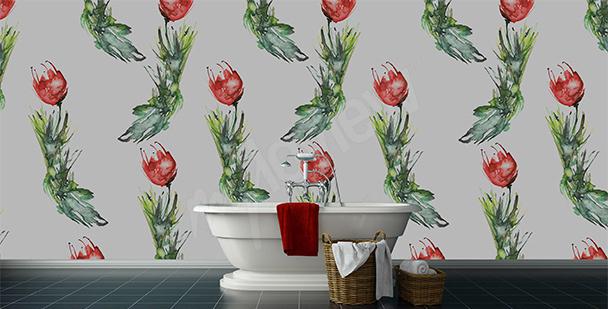 Fototapeta do łazienki tulipany