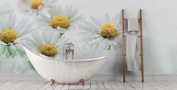 Fototapeta do łazienki w kwiaty