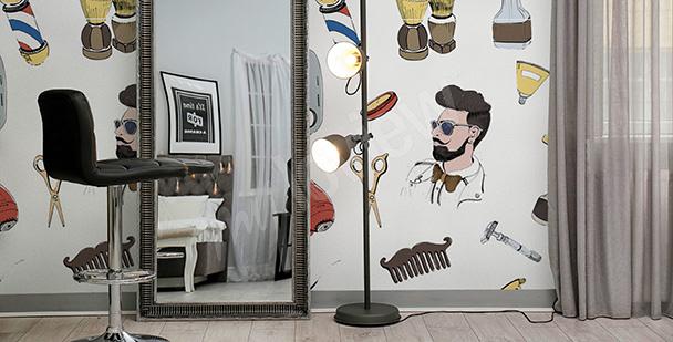 Fototapeta do męskiego fryzjera