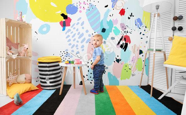 Fototapeta do pokoju chłopca – sztuka naiwna