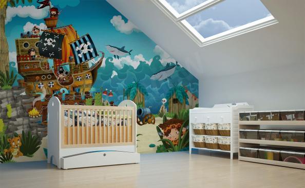 Fototapeta do pokoju dziecięcego piraci