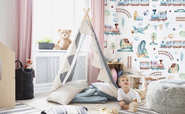 Fototapeta do pokoju dziecka – samoloty