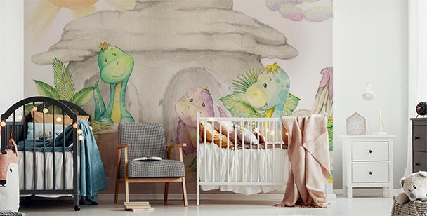 Fototapeta do pokoju dziecka z dinozaurami
