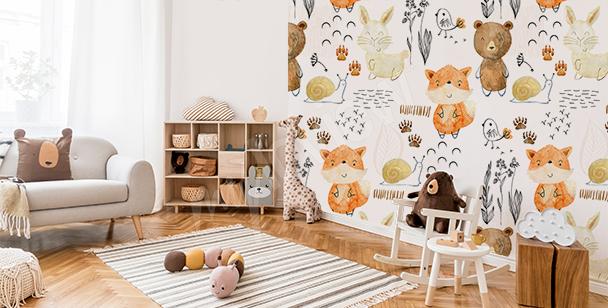 Fototapeta pokój dziecięcy mapa