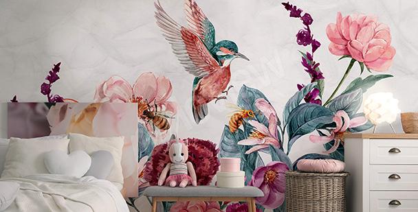 Fototapeta pokój dziewczynki kolory