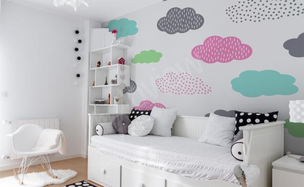 Fototapeta do pokoju dziewczynki kolorowe chmury