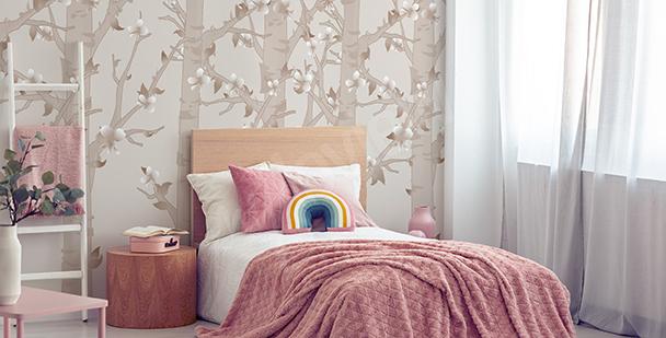 Fototapeta pokój dziewczynki motyle