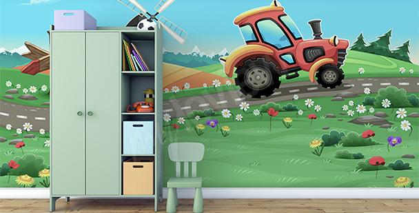 Fototapeta do przedszkola traktor