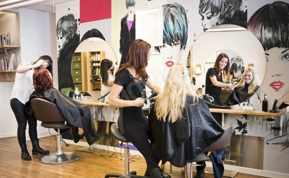 Fototapeta do salonu fryzjerskiego fryzury