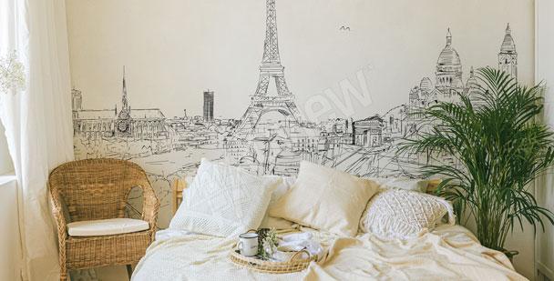 Fototapeta roślinny deseń do sypialni