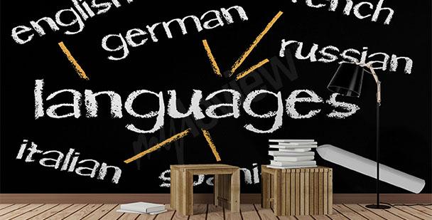 Fototapeta do szkoły językowej napisy