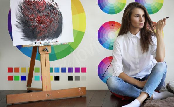 Fototapeta do szkoły z paletą barw