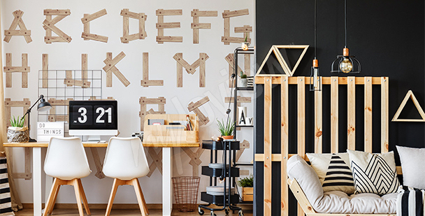 Fototapeta drewniane litery