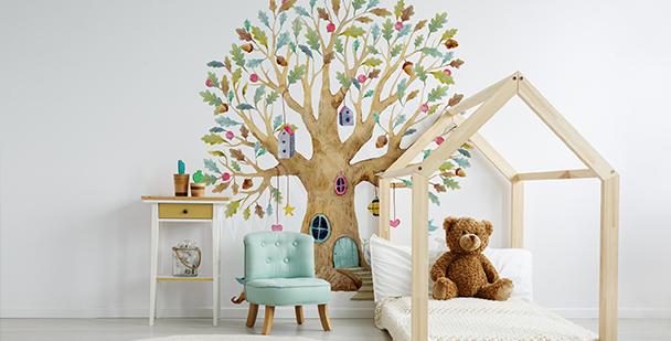 Fototapeta minimalistyczna drzewo