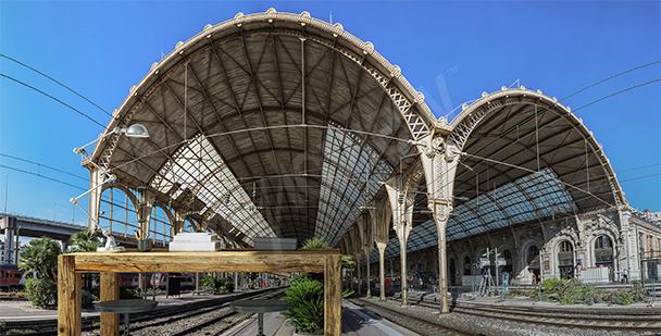 Fototapeta dworzec w Nicei