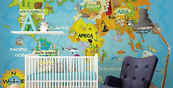 Fototapeta dziecięca mapa