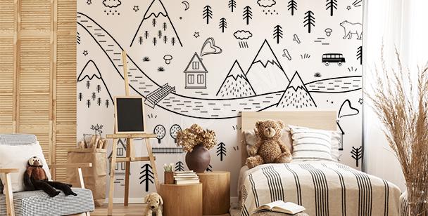 Fototapeta pokój dziecięcy baśń