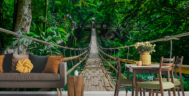Fototapeta egzotyczny las 3D