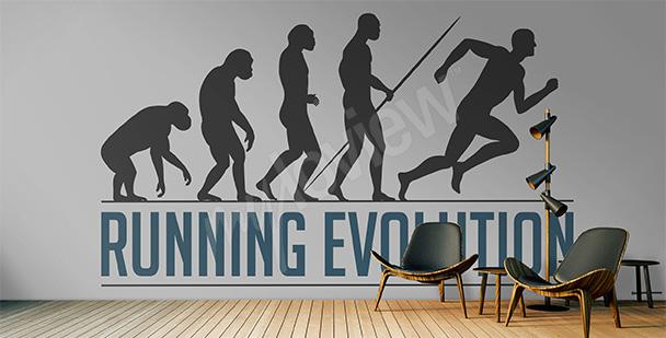 Fototapeta ewolucja biegania